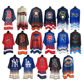 """Officially Licensed My Team MLB Styling Cutting Cape Snap Closure 55""""X60"""""""