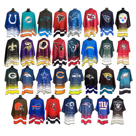 """Officially Licensed My Team NFL Styling Cutting Cape Snap Closure 55""""X60"""""""