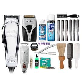 Barber Kit #1E Andis Corded Master Clipper & T-Outliner Trimmer