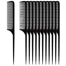 "Niso Niso 8-1/2"" Flexible Plastic Rat Tail Combs [DZ]"