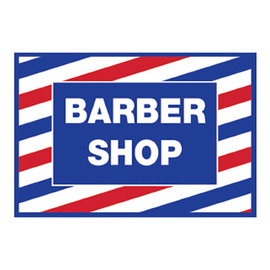 "ScalpMaster ScalpMaster Barber Shop Decal 17-1/2""x12"""