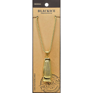 Black Ice Black Ice Barber's Jewelry Pendant Chain Necklace Gold