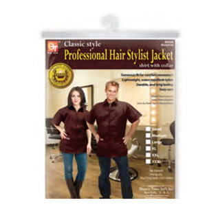 Beauty Town Beauty Town Classic Style Professional Hair Stylist Jacket Shirt w/ Collar