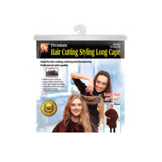 """Beauty Town Beauty Town Premium Hair Cutting Styling Long Cape Hook Closure 55""""x63"""""""