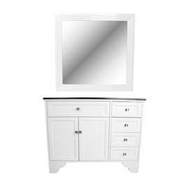 Maybelle Traditional Vanity Styling Station w/ Mirror
