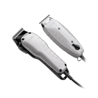 Andis Andis Barber Combo Adjustable Blade Corded Clipper & Corded T-Outliner Trimmer w/ Guides