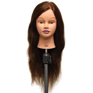 "Celebrity Celebrity Lauren Manikin Up to 26"" Brown Human Hair"