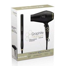 """BabylissPRO BabylissPRO Graphite Titanium 1"""" Ionic Flat Iron & Ionic Hair Dryer"""