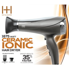 Hot & Hotter Hot & Hotter Ceramic Ionic Hair Blow Dryer 1875W Black