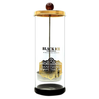 Black Ice Black Ice Signature Series Glass Sanitizing Disinfectant Jar