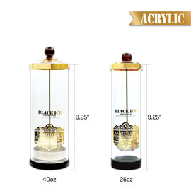 Black Ice Black Ice Signature Series Acrylic Sanitizing Disinfectant Jar