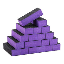 DL Professional DL Professional Sanding Nail Buffer Block Purple/Coarse 20pcs