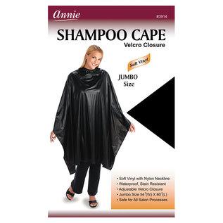 """Annie Annie Shampoo Cape Soft Vinyl Velcro Closure Black 54""""x60"""""""