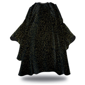 """Black Ice Black Ice Signature Series Barber Styling Cape """"Rich Gold"""" Hook Closure 59""""x55"""""""