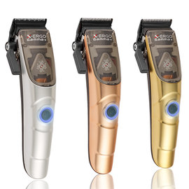 Gamma+ Gamma+ X-Ergo Modular w/ Turbocharged Magnetic Motor Adjustable Blade Cordless Clipper w/ Guides + 3 Cover Lids