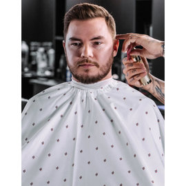 """Barber Strong Barber Strong Cape NanoShield Polyester Hook Closure White 