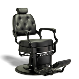 Adams Barber Salon Styling & Shaving Chair Black | Black