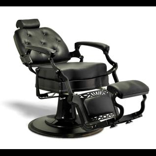 Adams Barber Salon Styling & Shaving Chair Black   Black