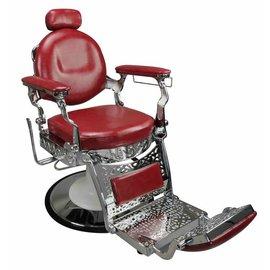 Jefferson Barber Salon Styling & Shaving Chair Red