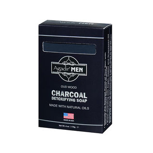 Agadir Agadir Men Charcoal Detoxifying Soap Oud Wood 6oz