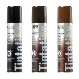 Kiss Kiss Colors Tintation Temporary Root Touch-Up Hair Color Spray w/ Olive Oil 2.82oz