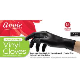 Annie Annie Hypoallergenic Vinyl Gloves Powder Free 100ct Black