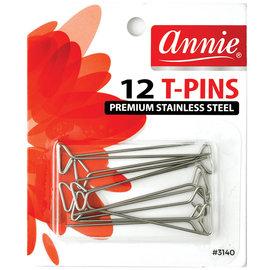 Annie Annie T-Pins Premium Stainless Steel 12ct