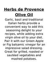 Olive Oil Refill