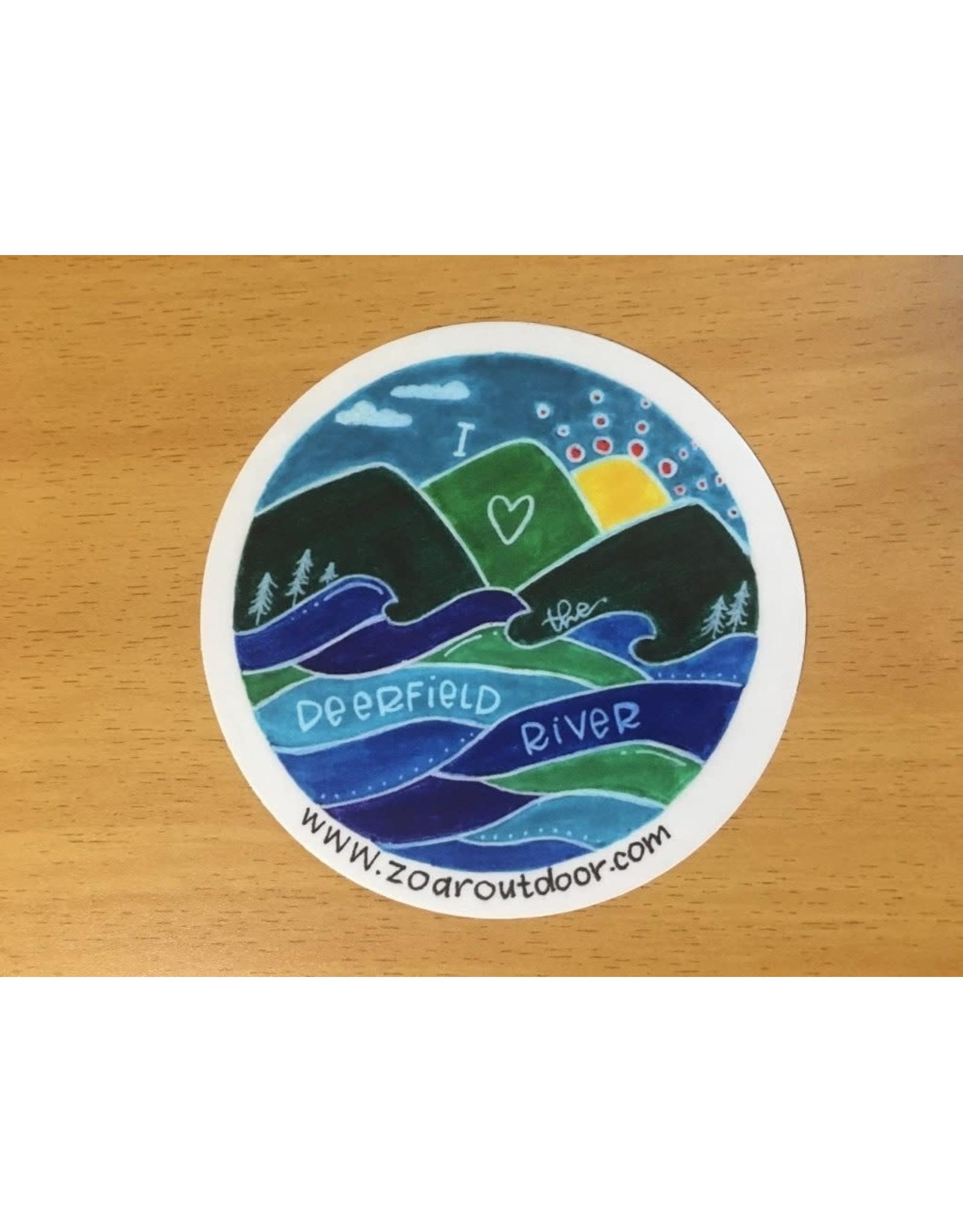 "I Love the Deerfield River Sticker - 4"""