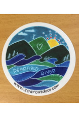 "I Love Deerfield River Sticker - 3"""
