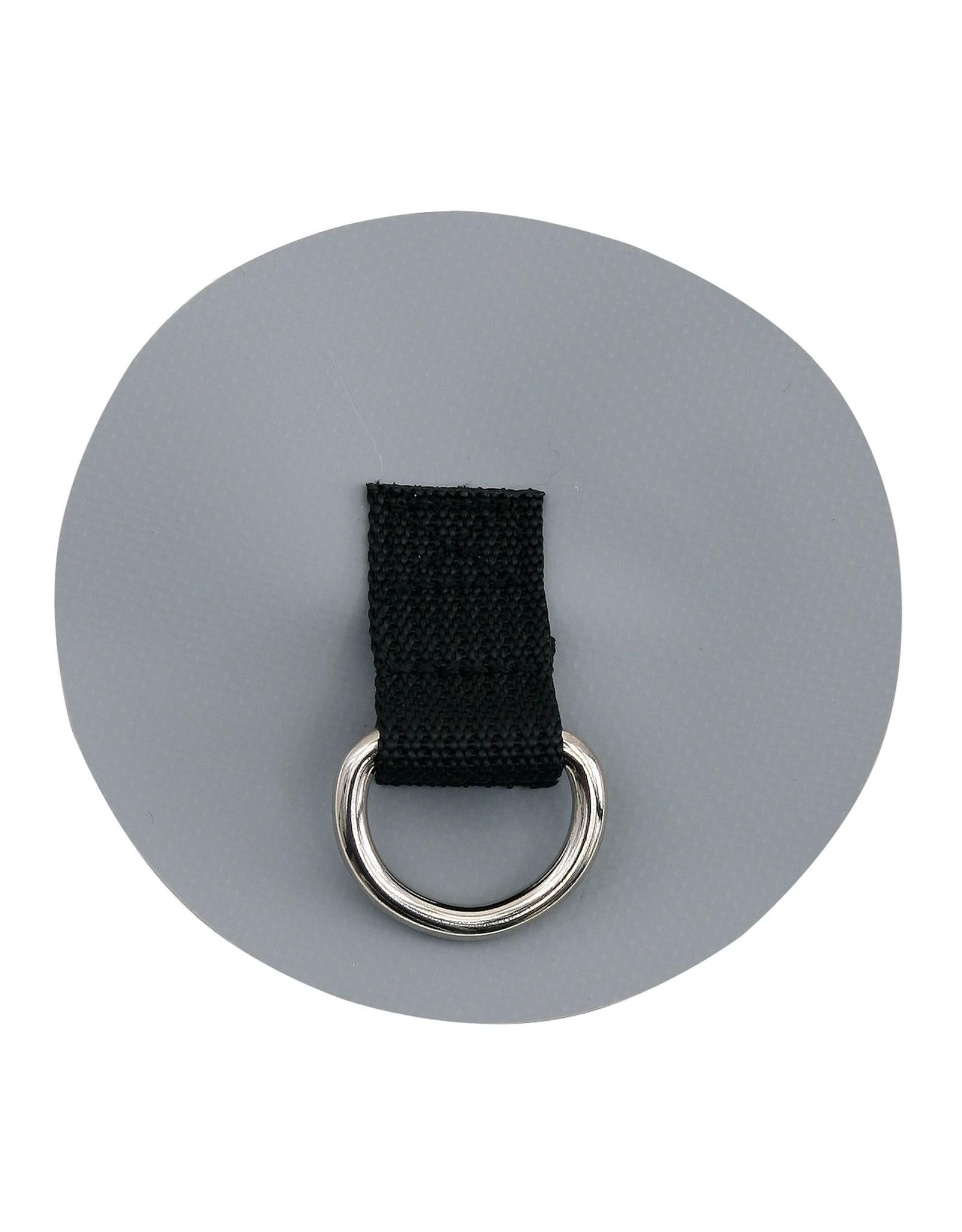 """NRS NRS Dry Bag 1"""" D-Ring PVC Patch  Light Gray"""