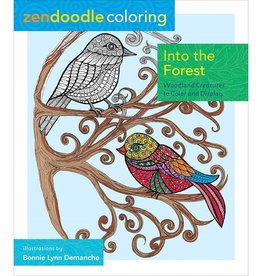 Zendoodle Into the Forest Coloring Book by Zendoodle