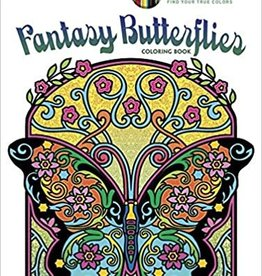 Creative Haven Fantasy Butterflies Coloring Book by Creative Haven