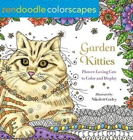 Zendoodle Garden Kitties Coloring Book by Zendoodle
