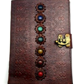 7 Chakra Stone Leather - Journal