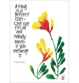 Amber Lotus A Hug is the Perfect Gift - Greeting Card
