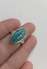 Amazonite Ring - Size 6 Sterling Silver