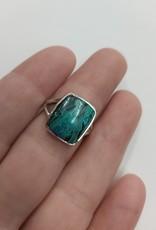 Azurite & Malachite Ring C - Size 6 Sterling Silver