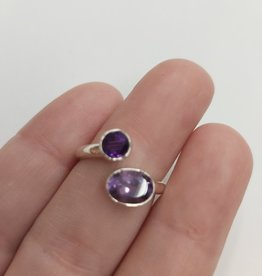 Amethyst Ring - Size 6 Sterling Silver