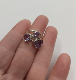 Amethyst Ring - Size 7 Sterling Silver