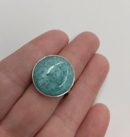Amazonite Ring - Size 7 Sterling Silver