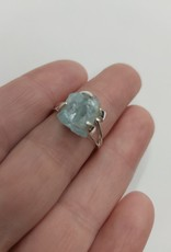 Aquamarine Ring - Size 7 Sterling Silver