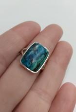 Azurite & Malachite Ring - Size 7 Sterling Silver
