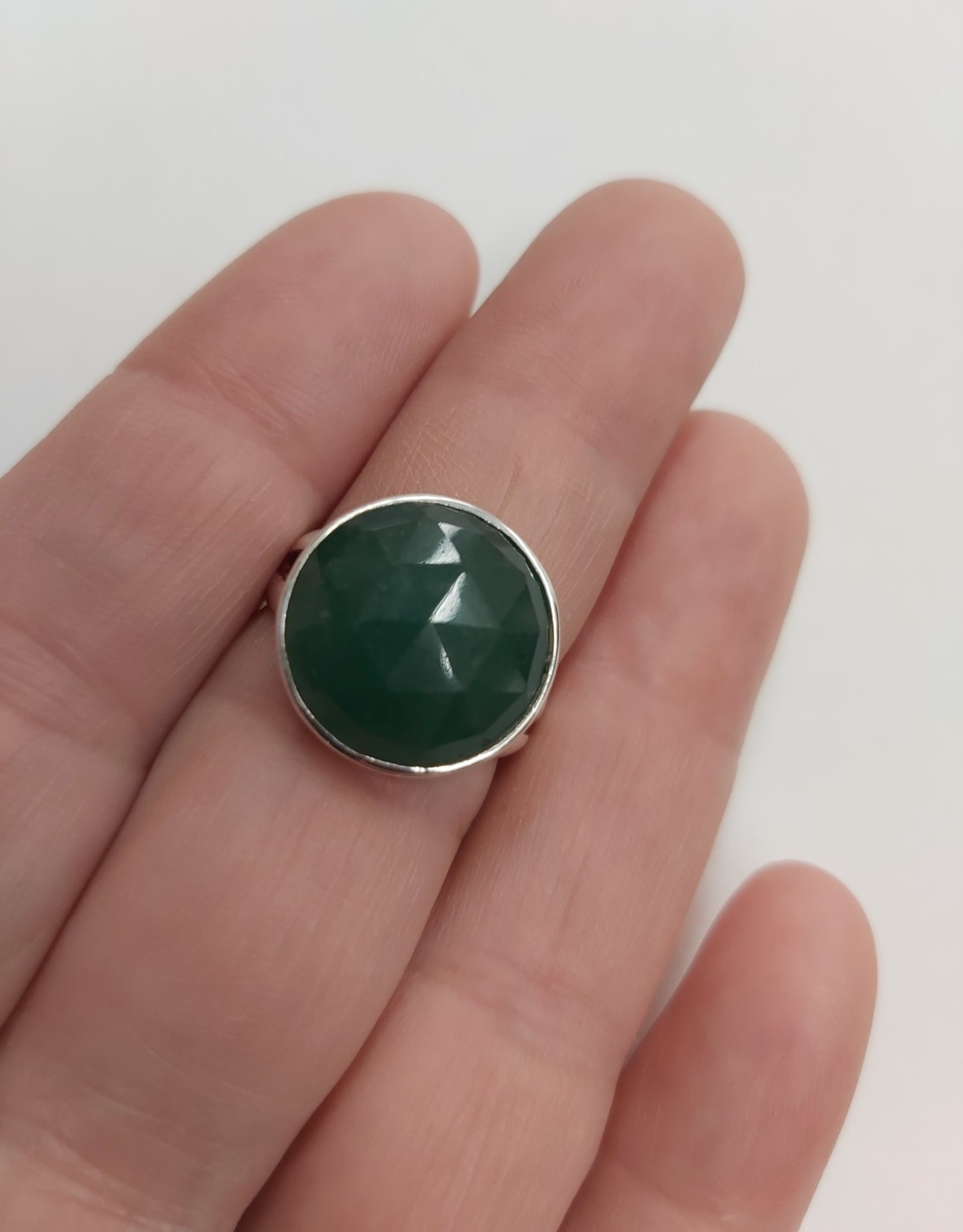 Aventurine Ring - Size 7 Sterling Silver