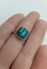 Azurite & Malachite Ring D - Size 7 Sterling Silver