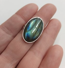Labradorite Ring H - Size 7 Sterling Silver