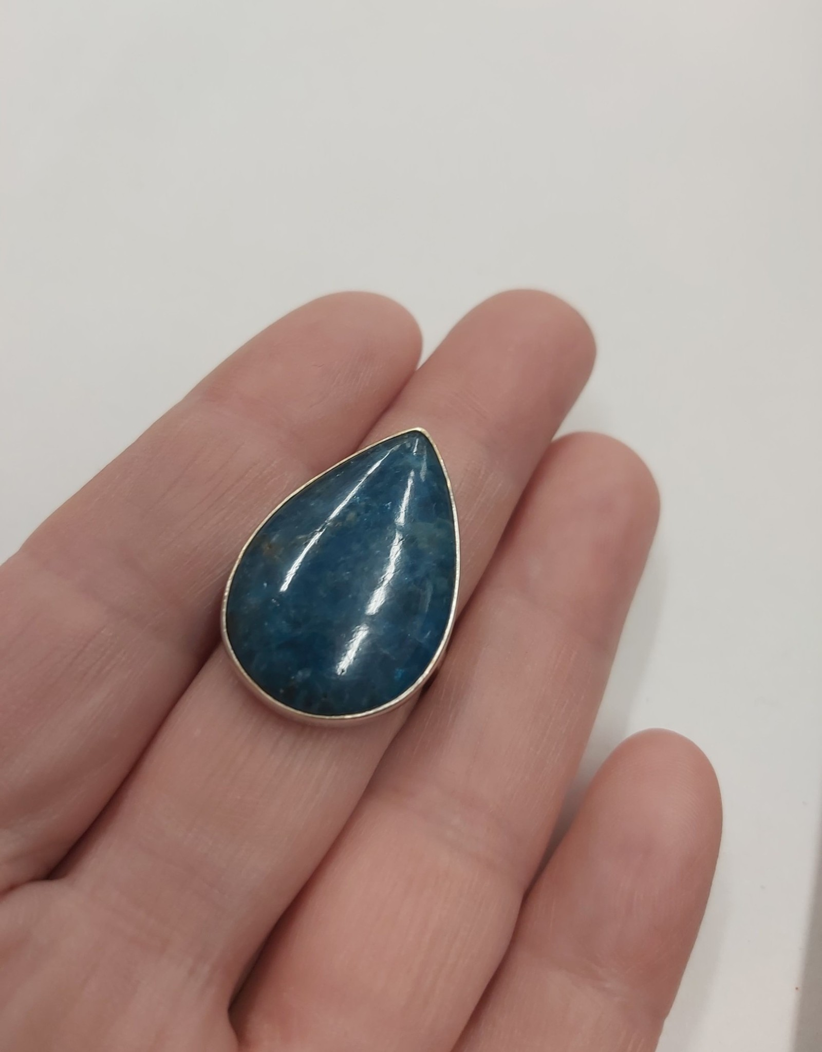 Apatite Ring - Size 8 Sterling Silver