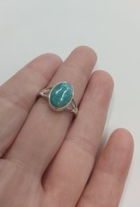 Amazonite Ring C - Size 8 Sterling Silver