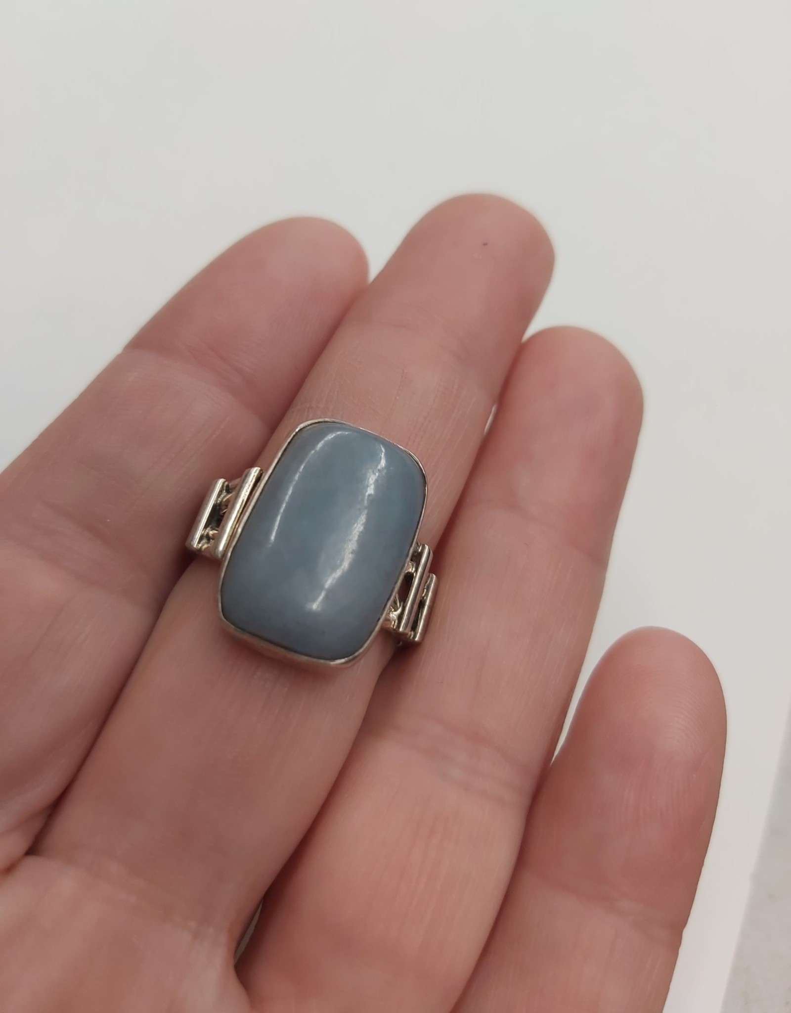 Angelite Ring B - Size 9 Sterling Silver