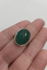 Aventurine Ring - Size 9 Sterling Silver
